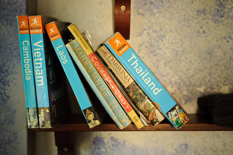 Travel Books on the Shelf