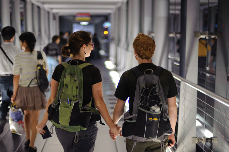 Us Walking to the Plane, Headed Home (by Jesse)