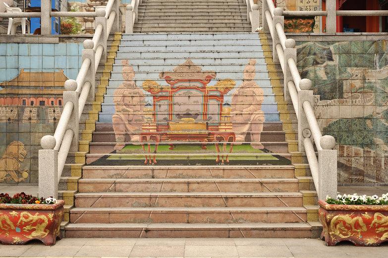 Incheon, Korea Chinatown Stairs