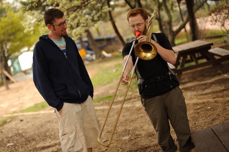 Jesse & Tyler Playing Trombone