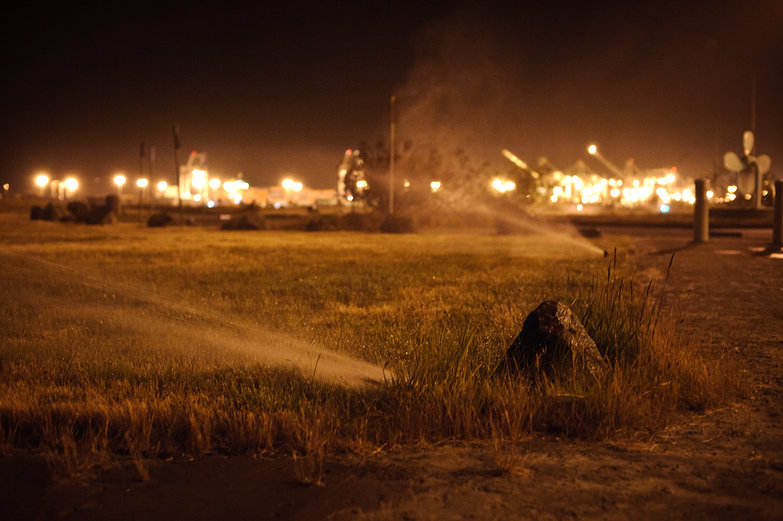 Sprinklers @ the Port of Oakland by Night