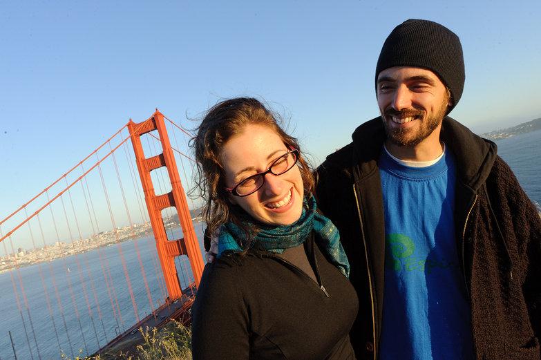 Tara & Lian at Golden Gate Bridge