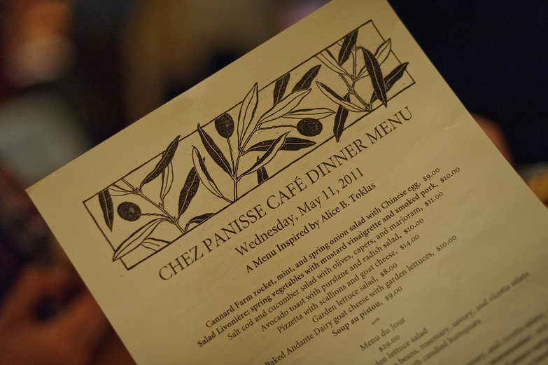 Chez Panisse Dinner Menu