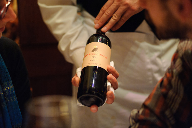 Presenting the Wine at Chez Panisse