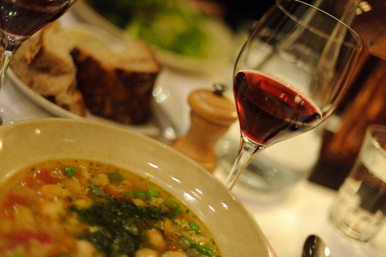 Chez Panisse Soupe au Pistou & Red Wine