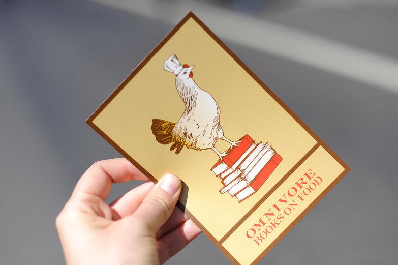 Omnivore Books Postcard