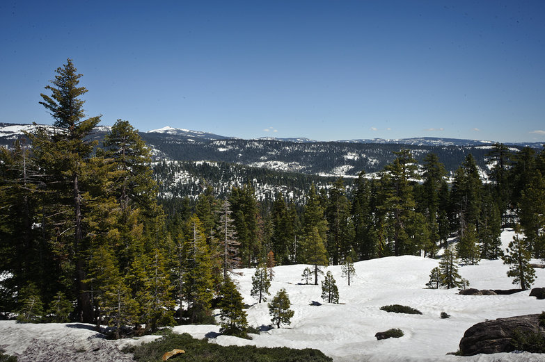 Snowy California Mountain Landscape