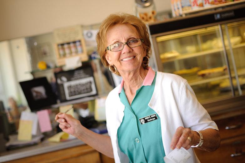 Waitress at Mom's Cafe