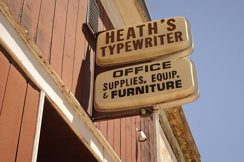 Heath's Typewriter Sign