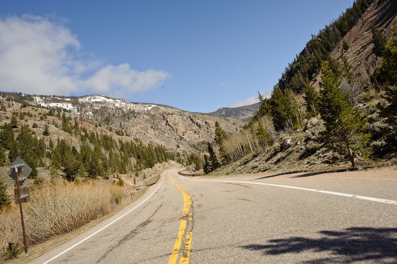 Driving Through Roosevelt National Forest, Colorado