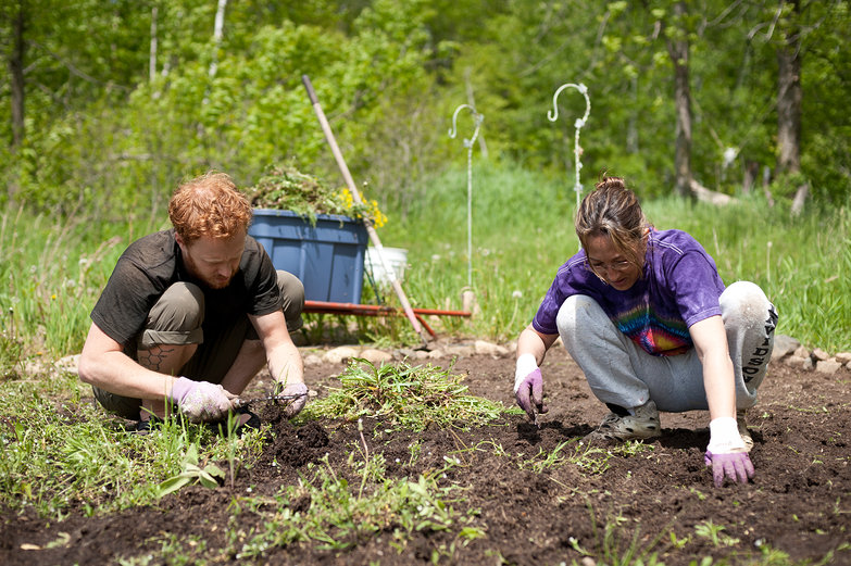 Tyler & Jodi (Mom) Weeding