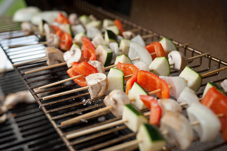 Veggie Kebabs on the Grill