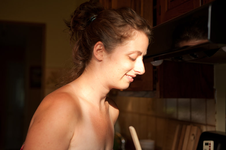 Tara Cooking (Not Naked)
