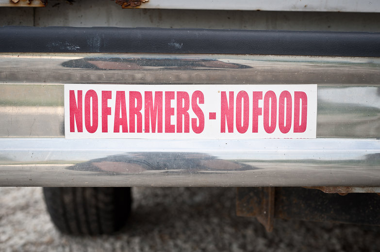 No Farmers - No Food Bumper Sticker