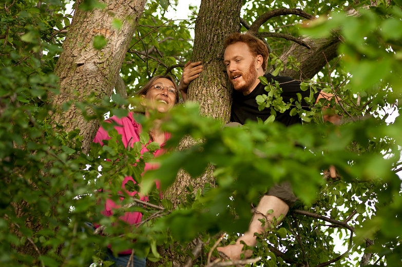 Jodi (Mom) &amp; Tyler in a Tree