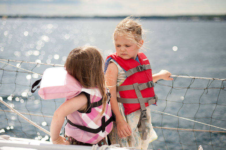 Boat Girls in Lifevests