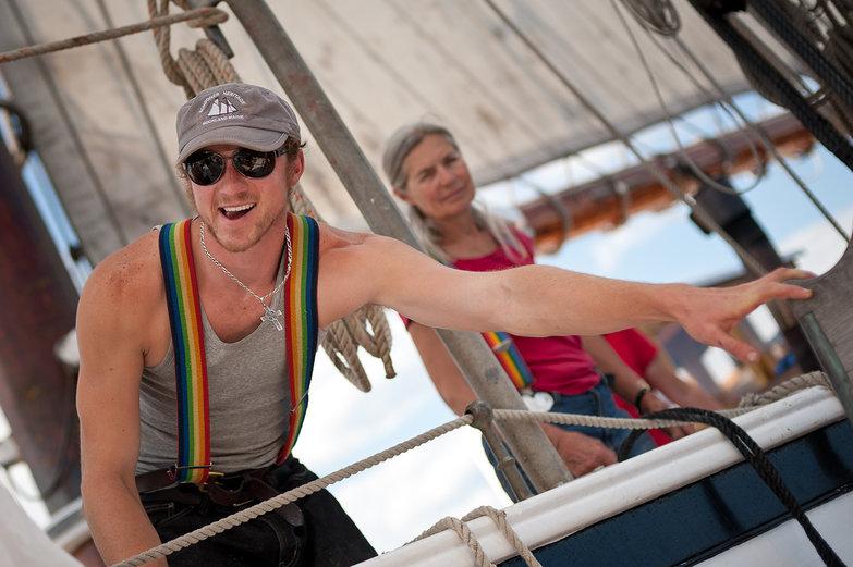 Rainbow-Suspendered Boatman