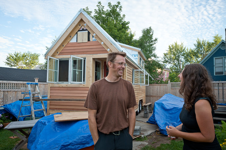 Kai & Sheila (www.2cycle2gether.com) and their Tiny House