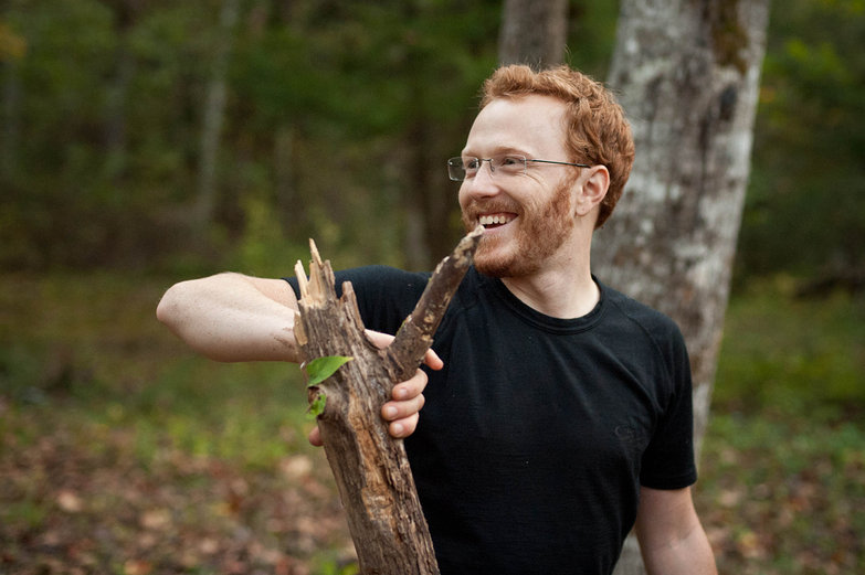 Happy Tyler with Split Wood