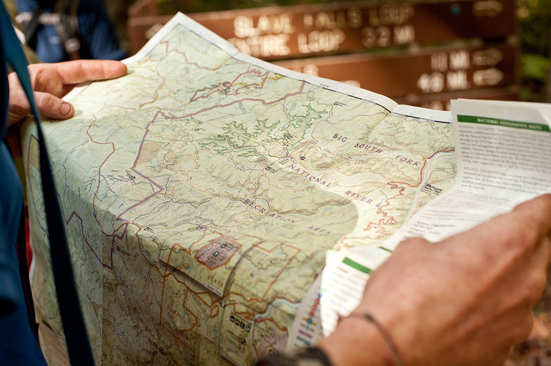 Pete & Map of Big South Fork National River Recreation Area