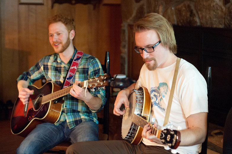 Dana & Will Playing Music