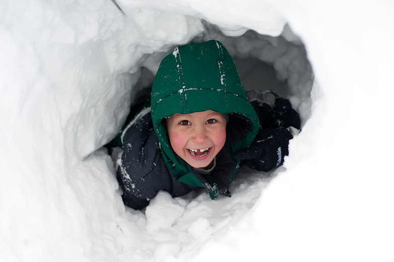 Adrian in the Snow Fort