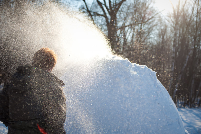Sparkling Snow Flying & Tyler