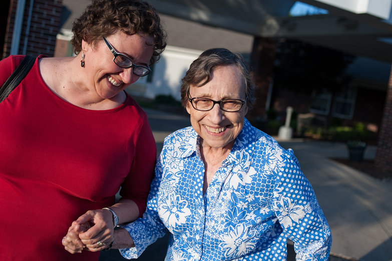 Mom (Lisa) & Grandma Jeanne Laughing