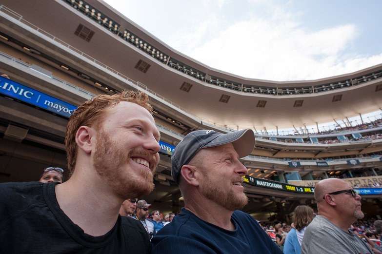 Tyler & his Dad at a Twins Game