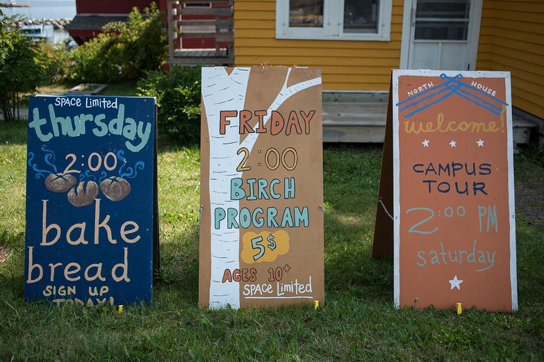 Signs in Grand Marais, Minnesota
