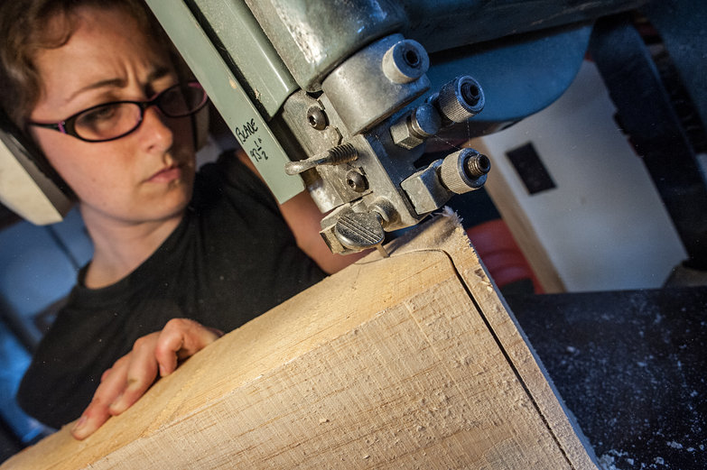 Tara Shaping Corble on a Bandsaw