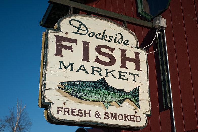 Dockside Fish Market Sign