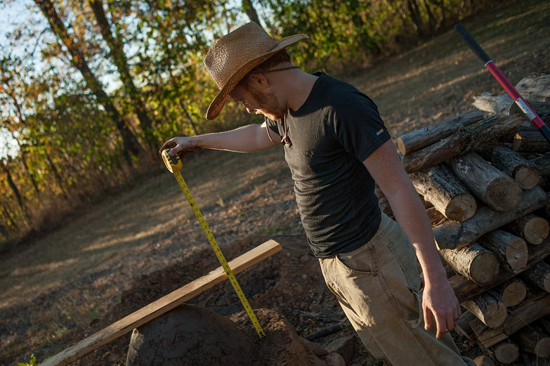 Tyler Measuring Earthen Oven Form