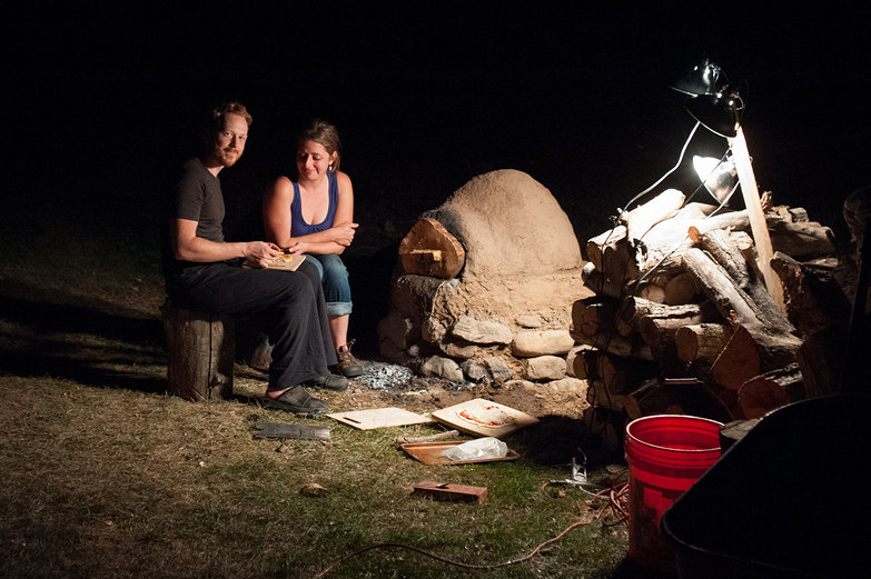 Us by Earthen Oven at Night
