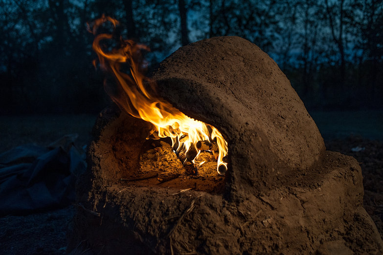 Firing Earthen Oven