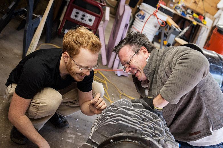 Tyler & Tim Sefton Assembling Sterling Engine