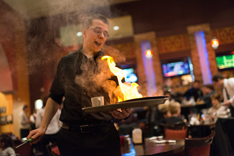 Opa!  (Flaming Cheese)
