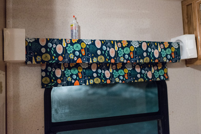 New Fabric-Covered Valance