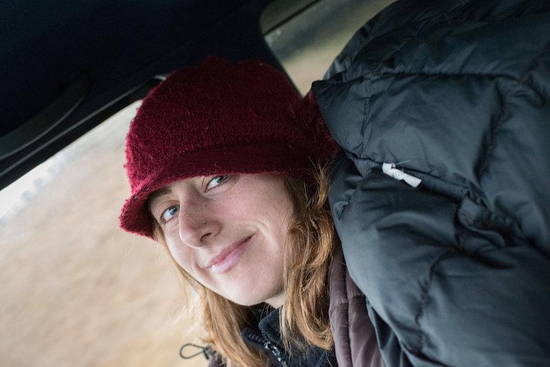 Tara in the Truck