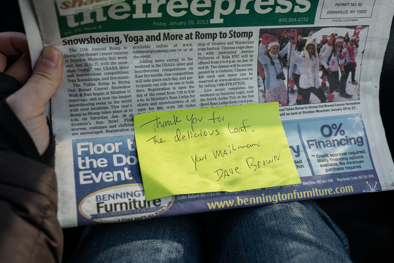 Mail Carrier Thank You Note