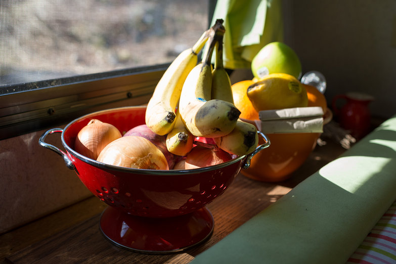 Fruit in Colander in Camper