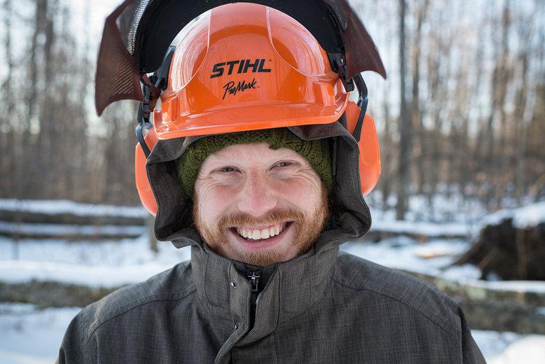 Tyler in Stihl Helmet