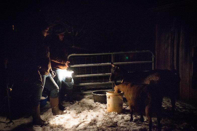 Tara & Jenna w/ Pregnant Goats