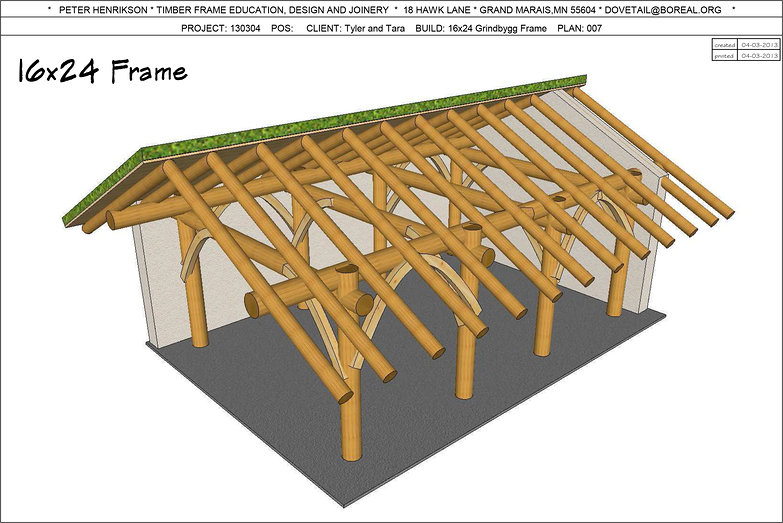 "Norwegian Grindbygg ""Trestle"" Frame Plans"