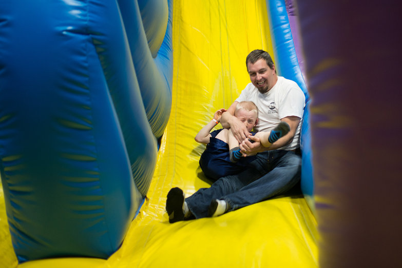 Isaac & Paul Sliding @ Bounce Depot
