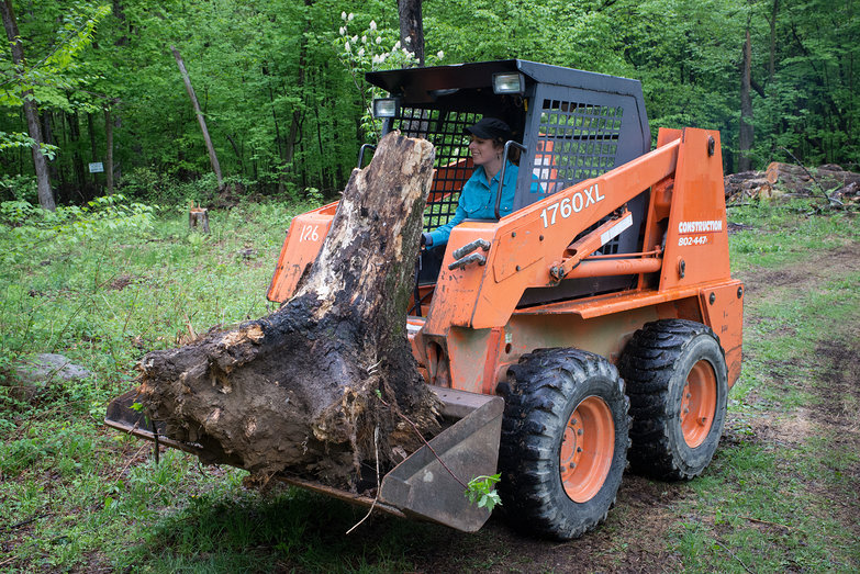Tara Running a Skid Steer