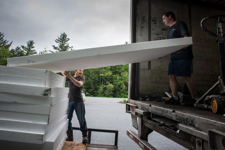 Tyler & Steven Unloading EPS Foam