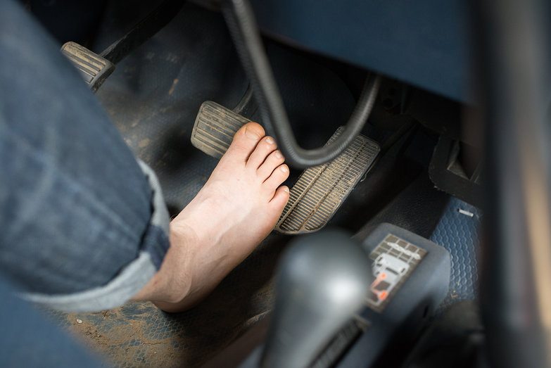 Tyler Driving (Hobbit Foot)