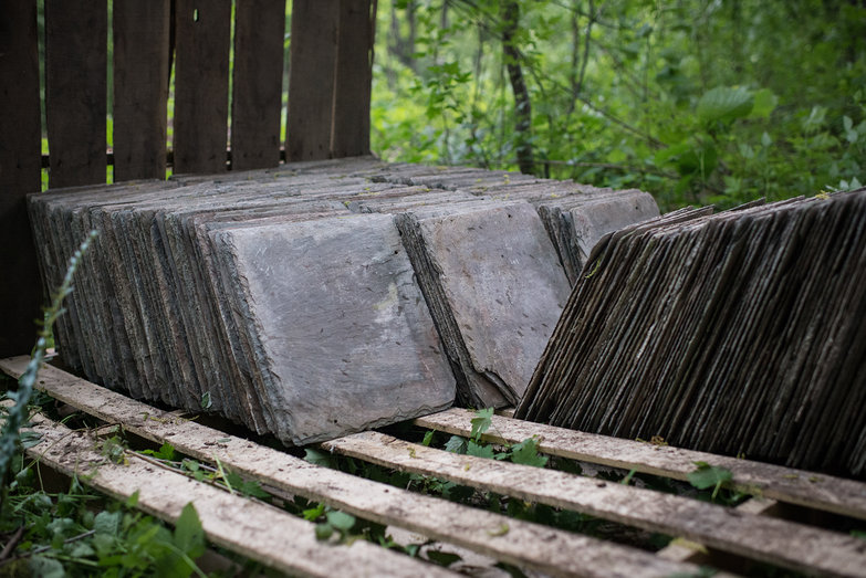 Slate Roof Tiles on Pallets