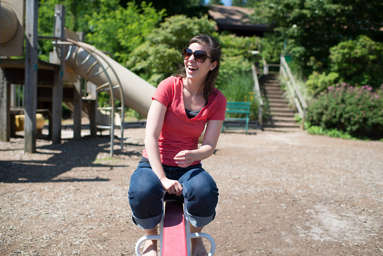 Lucy On Teeter Totter